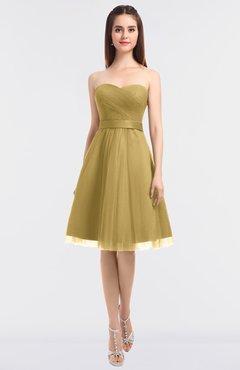 ea44ddf91311 ColsBM Olivia Ochre Princess A-line Strapless Knee Length Bow Bridesmaid  Dresses