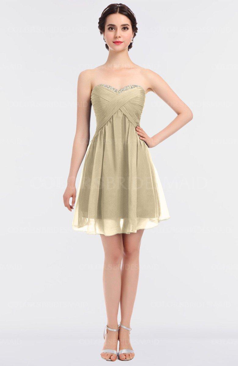 6972940a5cd ColsBM Denise Angora Glamorous A-line Sleeveless Zip up Mini Appliques  Bridesmaid Dresses