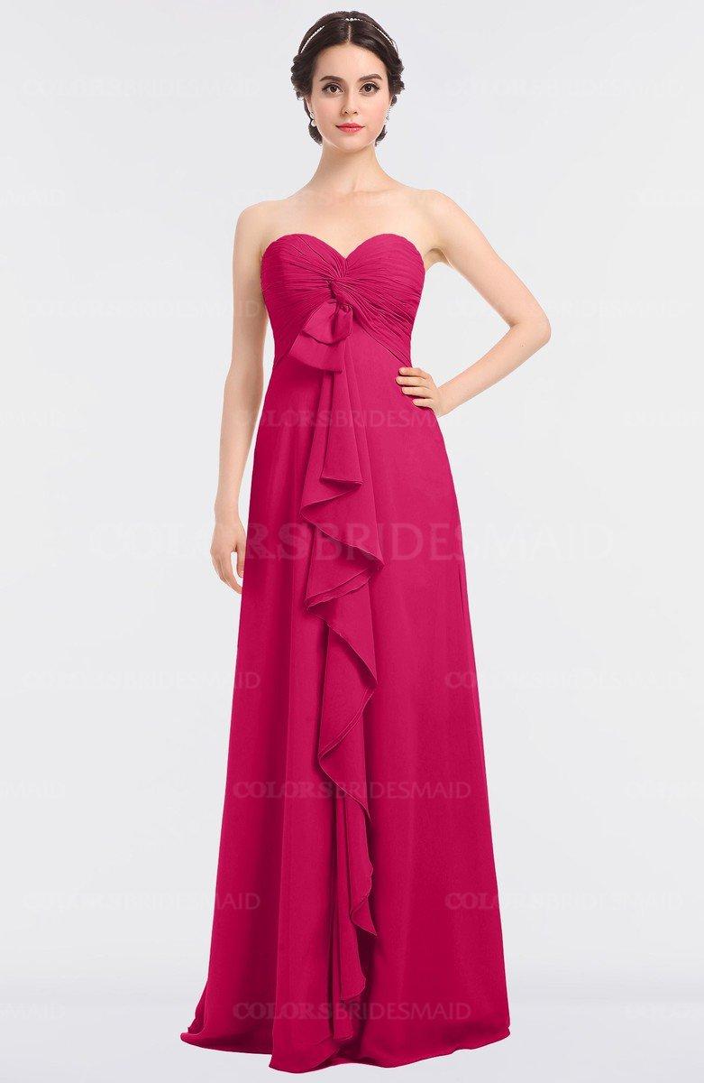 b7f75212f55 ColsBM Jemma Fuschia Elegant A-line Strapless Sleeveless Ruching Bridesmaid  Dresses
