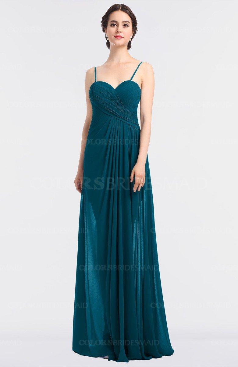 cddda89f0e ColsBM Tayler Midnight Blue Elegant A-line Spaghetti Sleeveless Zip up Bridesmaid  Dresses