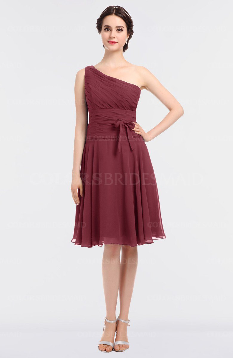 Wine mature a line zip up knee length bow bridesmaid dresses mature a line zip up knee length bow bridesmaid dresses ombrellifo Choice Image
