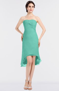 ColsBM Bryleigh Elegant Sheath Strapless Zip up Mini Ruching Bridesmaid Dresses
