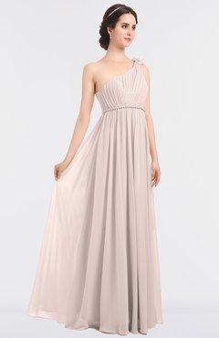 Mature Asymmetric Neckline Sleeveless Zip up Floor Length Ruching Bridesmaid Dresses