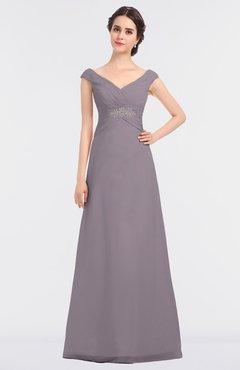 ColsBM Nadia Cameo Elegant A-line Short Sleeve Zip up Floor Length Beaded Bridesmaid Dresses