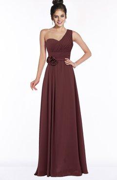 ColsBM Tegan Burgundy Modern Sleeveless Zip up Chiffon Floor Length Flower Bridesmaid Dresses