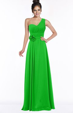67a438097e ColsBM Tegan Jasmine Green Modern Sleeveless Zip up Chiffon Floor Length  Flower Bridesmaid Dresses