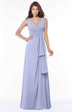 ColsBM Giselle Lavender Gorgeous A-line V-neck Sleeveless Half Backless Pick up Bridesmaid Dresses