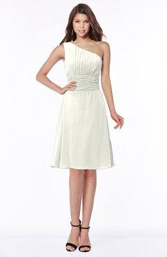 fd0856c62508 ColsBM Lilyana Ivory Romantic One Shoulder Chiffon Knee Length Pleated  Bridesmaid Dresses