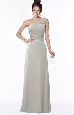 ColsBM Adalyn Ashes Of Roses Mature Sheath Sleeveless Half Backless Chiffon Ruching Bridesmaid Dresses