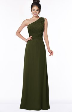 ColsBM Adalyn Beech Mature Sheath Sleeveless Half Backless Chiffon Ruching Bridesmaid Dresses