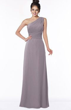 ColsBM Adalyn Cameo Mature Sheath Sleeveless Half Backless Chiffon Ruching Bridesmaid Dresses