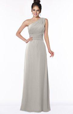 ColsBM Adalyn Hushed Violet Mature Sheath Sleeveless Half Backless Chiffon Ruching Bridesmaid Dresses