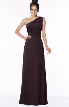 ColsBM Adalyn Italian Plum Mature Sheath Sleeveless Half Backless Chiffon Ruching Bridesmaid Dresses