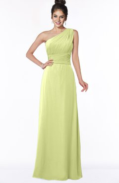 ColsBM Adalyn Lime Sherbet Mature Sheath Sleeveless Half Backless Chiffon Ruching Bridesmaid Dresses