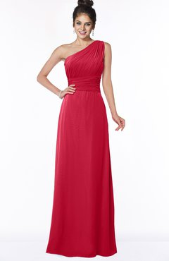 ColsBM Adalyn Lollipop Mature Sheath Sleeveless Half Backless Chiffon Ruching Bridesmaid Dresses