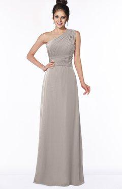 ColsBM Adalyn Mushroom Mature Sheath Sleeveless Half Backless Chiffon Ruching Bridesmaid Dresses