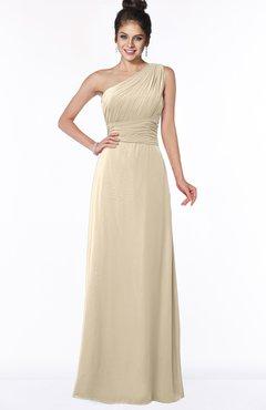 ColsBM Adalyn Novelle Peach Mature Sheath Sleeveless Half Backless Chiffon Ruching Bridesmaid Dresses