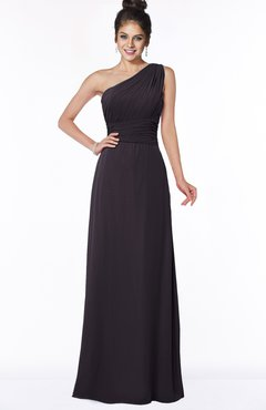 ColsBM Adalyn Perfect Plum Mature Sheath Sleeveless Half Backless Chiffon Ruching Bridesmaid Dresses