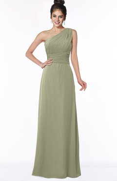 ColsBM Adalyn Sponge Mature Sheath Sleeveless Half Backless Chiffon Ruching Bridesmaid Dresses