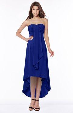 ColsBM Faith Nautical Blue Plain A-line Sleeveless Zip up Chiffon Pick up Bridesmaid Dresses