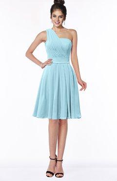 ColsBM Sophia Aqua Cute A-line Sleeveless Chiffon Ruching Bridesmaid Dresses