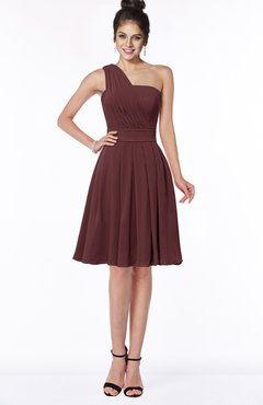 ColsBM Sophia Burgundy Cute A-line Sleeveless Chiffon Ruching Bridesmaid Dresses