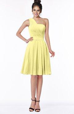ColsBM Sophia Daffodil Cute A-line Sleeveless Chiffon Ruching Bridesmaid Dresses