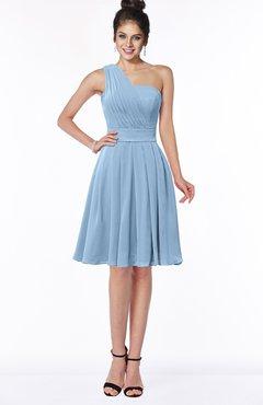 ColsBM Sophia Dusty Blue Cute A-line Sleeveless Chiffon Ruching Bridesmaid Dresses