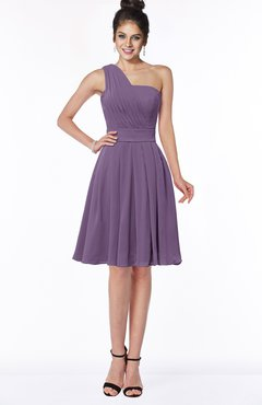 ColsBM Sophia Eggplant Cute A-line Sleeveless Chiffon Ruching Bridesmaid Dresses
