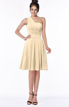 ColsBM Sophia Marzipan Cute A-line Sleeveless Chiffon Ruching Bridesmaid Dresses