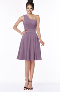 ColsBM Sophia Mauve Cute A-line Sleeveless Chiffon Ruching Bridesmaid Dresses