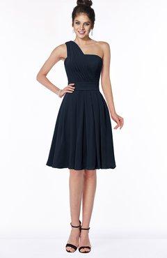 ColsBM Sophia Navy Blue Cute A-line Sleeveless Chiffon Ruching Bridesmaid Dresses