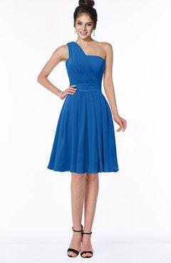 ColsBM Sophia Royal Blue Cute A-line Sleeveless Chiffon Ruching Bridesmaid Dresses