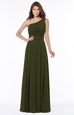 ColsBM Adeline Beech Gorgeous A-line One Shoulder Zip up Floor Length Pleated Bridesmaid Dresses