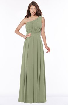 ColsBM Adeline Bog Gorgeous A-line One Shoulder Zip up Floor Length Pleated Bridesmaid Dresses