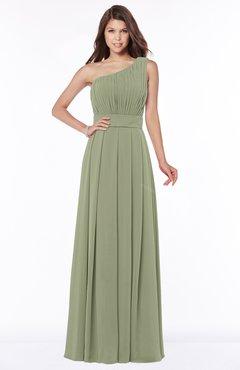 ColsBM Adeline Bog Gorgeous A-line One Shoulder Zip up Floor Length Pleated Bridesmaid Dresses