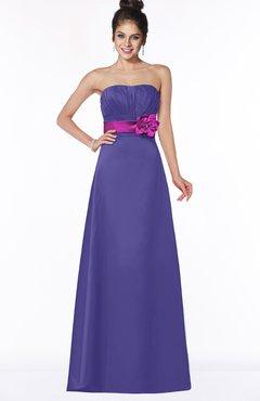 ColsBM Alyson Purple Gothic A-line Strapless Sleeveless Flower Bridesmaid Dresses