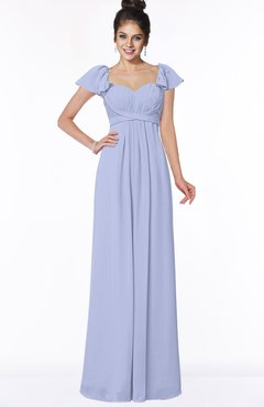 ColsBM Siena Lavender Modern A-line Wide Square Short Sleeve Zip up Pleated Bridesmaid Dresses
