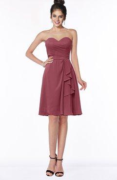 ColsBM Janiya Wine Traditional A-line Sleeveless Half Backless Knee Length Bridesmaid Dresses