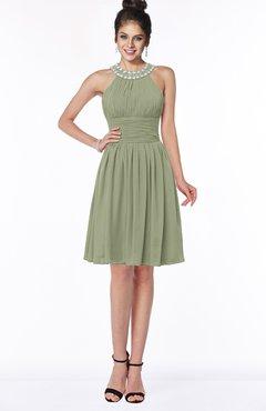 ColsBM Liana Bog Cute A-line Jewel Chiffon Pleated Bridesmaid Dresses