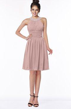 ColsBM Liana Bridal Rose Cute A-line Jewel Chiffon Pleated Bridesmaid Dresses