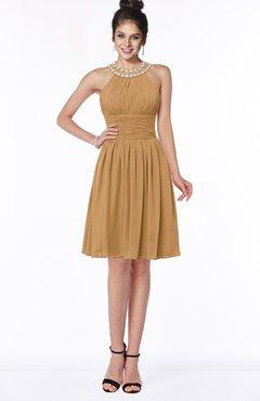 ColsBM Liana Doe Cute A-line Jewel Chiffon Pleated Bridesmaid Dresses