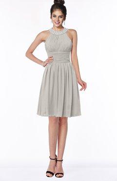 ColsBM Liana Hushed Violet Cute A-line Jewel Chiffon Pleated Bridesmaid Dresses