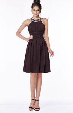 ColsBM Liana Italian Plum Cute A-line Jewel Chiffon Pleated Bridesmaid Dresses