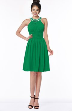 ColsBM Liana Jelly Bean Cute A-line Jewel Chiffon Pleated Bridesmaid Dresses