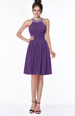 ColsBM Liana Pansy Cute A-line Jewel Chiffon Pleated Bridesmaid Dresses