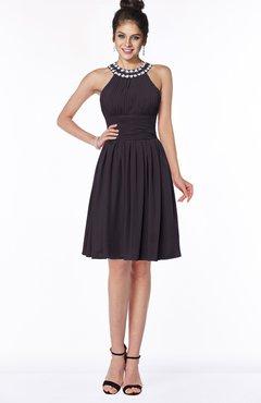 ColsBM Liana Perfect Plum Cute A-line Jewel Chiffon Pleated Bridesmaid Dresses