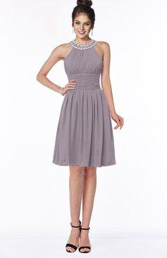 ColsBM Liana Sea Fog Cute A-line Jewel Chiffon Pleated Bridesmaid Dresses