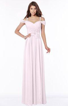 ColsBM Kate Blush Luxury V-neck Short Sleeve Zip up Chiffon Bridesmaid Dresses
