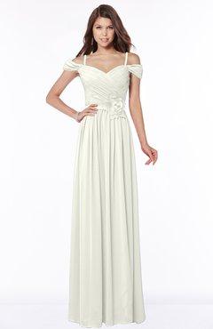 ColsBM Kate Cream Luxury V-neck Short Sleeve Zip up Chiffon Bridesmaid Dresses
